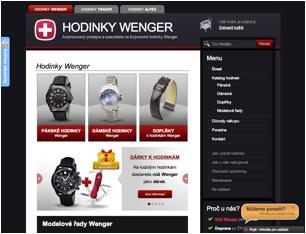 Eshop HodinkyWenger.cz - WordPress
